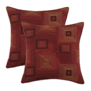 Rena Cinnabar 17-inch Throw Pillows (Set of 2)