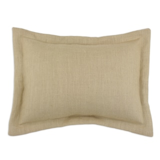 Burlap Natural 2-inch Flanged Sham
