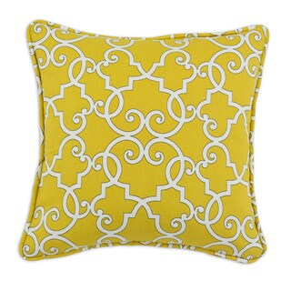 Somette Woburn Sunflower Self Backed 17-inch Corded Throw Pillow