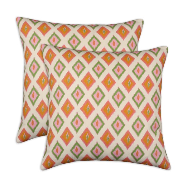 Somette Carnival Gumdrop 17-inch Throw Pillows (Set of 2)