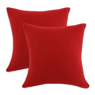 Somette Fleece Red Simply Soft 17-inch Throw Pillows (Set of 2)