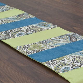 Somette Paisley Chocolate Pieced Table Runner