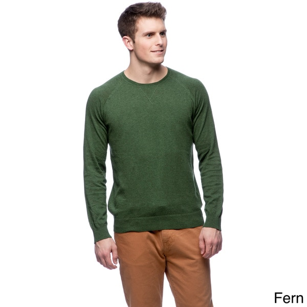 Cullen Men's Brushed Cotton Crew-neck Sweater