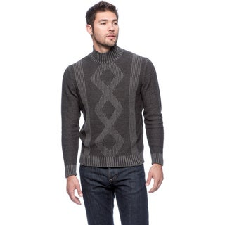 Cullen Plaited Faux Cable Mock Turtleneck Sweater