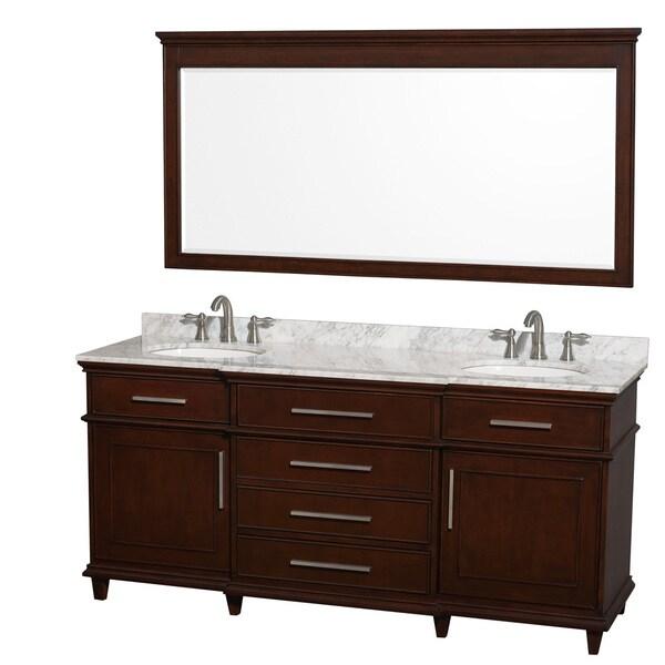 72 bathroom vanity cabinet only - Wyndham Collection Berkeley Dark Chestnut 72 Inch Double