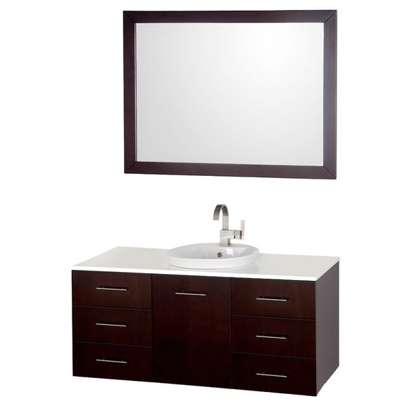 wyndham collection arrano espresso 48 inch single bathroom vanity