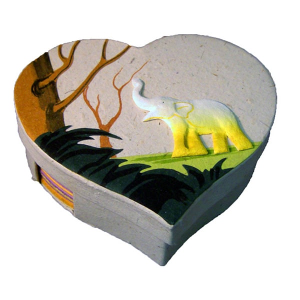 Mr. Ellie Pooh Heart Shaped Paper Note Box (Sri Lanka)