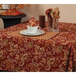 Banbury Paisley Scroll Microfiber Tablecloth
