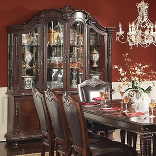 Tusca Traditional Dark Brown Buffet Hutch