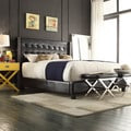 INSPIRE Q Marion Faux Alligator Leather Nailhead Wingback Tufted King-sized Bed