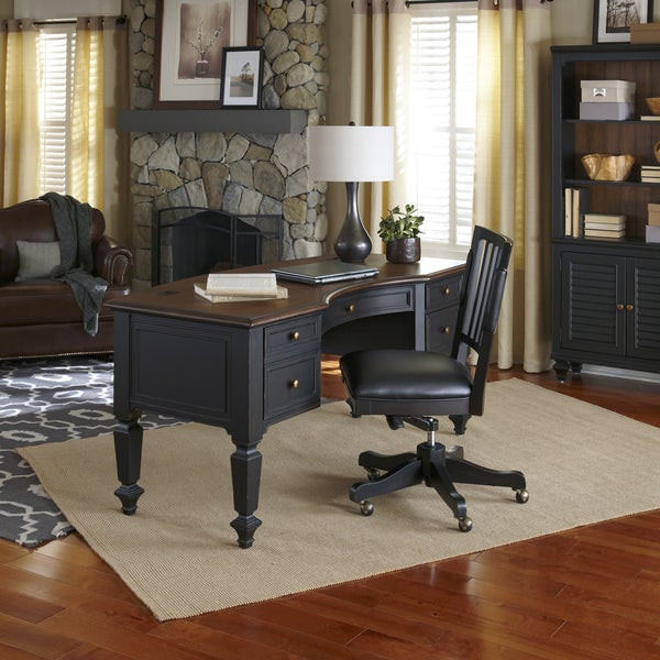 Grandview 66 Inch Half Pedestal Desk 16672245