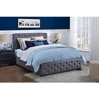 DHP Ferrara Grey Upholstered Full-size Bed