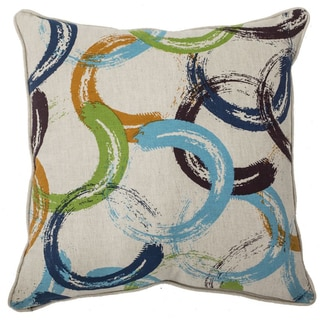 Multi-Color Horseshoe 22-inch Feather Filled Throw Pillows