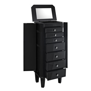 Black Glass Jewelry Armoire