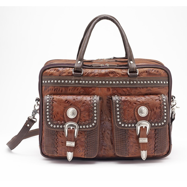 American West Chocolate/ Antique Brown Briefcase
