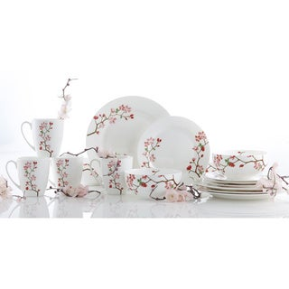 Roscher 16-piece Cherry Blossom Bone China Dinnerware Set