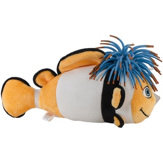 Zibbies Plush Pet Toy W/Crazy Hair & Squeaker-Bubblez The Clown Fish
