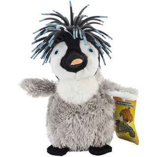Zibbies Plush Pet Toy W/Crazy Hair & Squeaker-Gigglez The Penguin