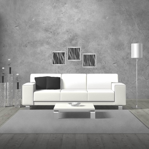 Monochrome Artwork 'Pewter Essence' Black/ Grey Modern Metal Wall Art