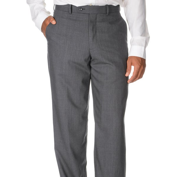 Montefino Mondo Men's 'Super 120 Merino' Grey Wool Pants