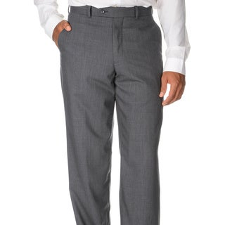 Montefino Mondo Men's 'Super 120 Merino' Grey Wool Pants