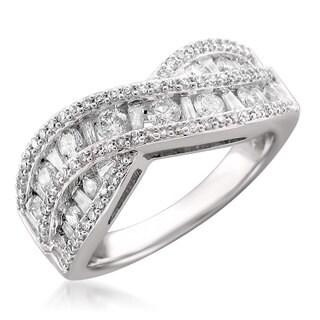 14k White Gold 1ct TDW Diamond Ring (H-I, SI1-SI2)