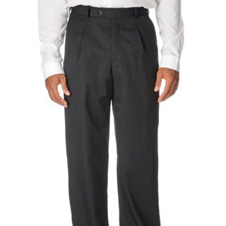 Cianni Cellini Men's Charcoal Wool Gabardine Pants