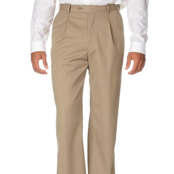 Cianni Cellini Men's Tan Wool Gabardine Pants