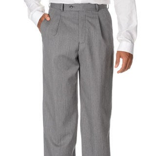 Cianni Cellini Men's Grey Wool Gabardine Pants