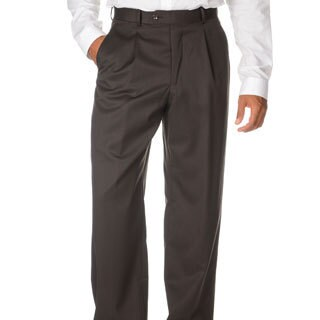 Cianni Cellini Men's Brown Wool Gabardine Pants