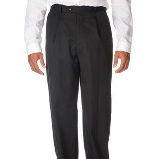 Cianni Cellini Men's Black Wool Gabardine Pants