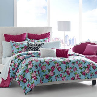 Betsey Johnson Betsey's Boudoir Cotton 3-piece Comforter Set with Sham Separates