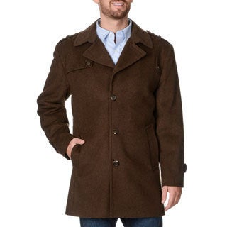 Cianni Cellini Men's 'Ralph' Brown Wool Blend Top Coat