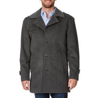 Cianni Cellini Men's 'Ralph' Grey Wool Blend Top Coat