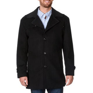 Cianni Cellini Men's 'Ralph' Black Wool-blend Top Coat