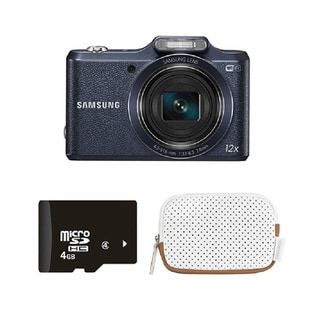 Samsung WB50F Black 16MP Smart Digital Camera Bundle