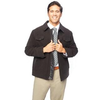 West End Young Men's 'Weston' Dark Brown Zip-front Winter Jacket