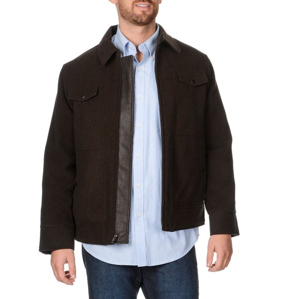 West End Young Men's 'Weston' Dark Brown Zip-front Winter Jacket