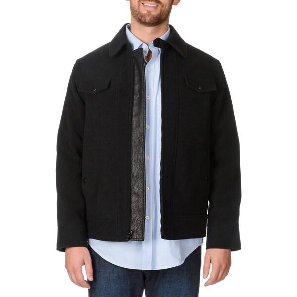 West End Young Men's 'Weston' Black Zip-front Winter Jacket