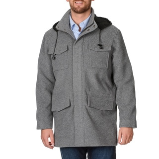 West End Young Men's 'Westin' Grey Wool Blend Coat