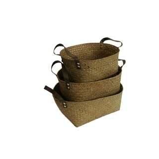 Wald Imports Seagrass Baskets (Set of 3)