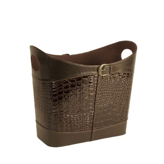 Brown Brass Buckle Tote