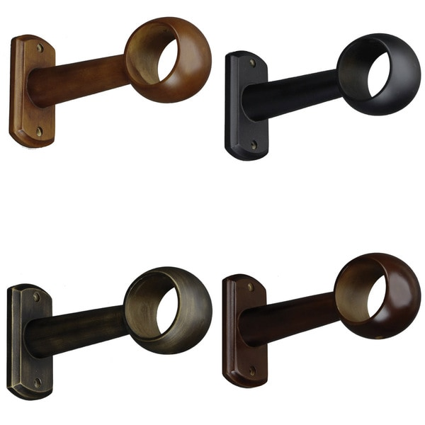 Curtain Rod Support Bracket Curtain Rods and Hardware