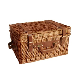 Wald Imports Brown 16-inch Willow Picnic Basket