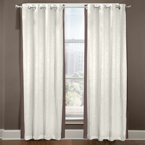 Grand Luxe Central Park Linen Grommet Top Curtain Panel