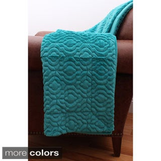 Keenan Embroidered 50-inch by 60-inch Geometric Throw