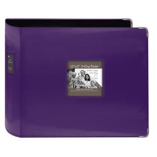 Pioneer Jumbo 3-ring Bright Purple Leatherette Frame Scrapbook Binder (12x12)