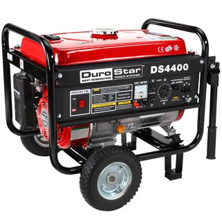DuroStar 4400-watt 7.0 HP Air Cooled OHV Gas Generator with Wheel Kit CARB Approved