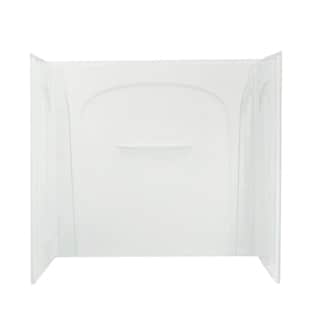 Acclaim 3-piece Direct-to-Stud White Tub Wall