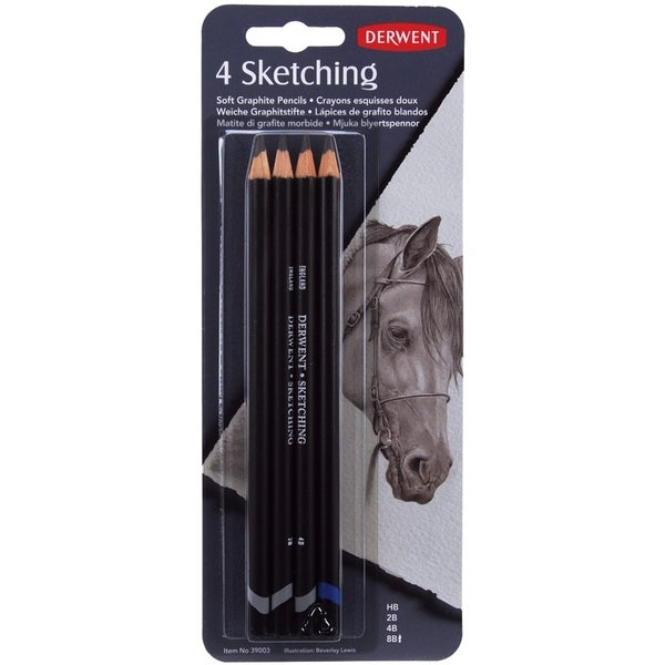 Derwent Sketch Pencils 4/Pkg-HB, 2B, 4B, 8B